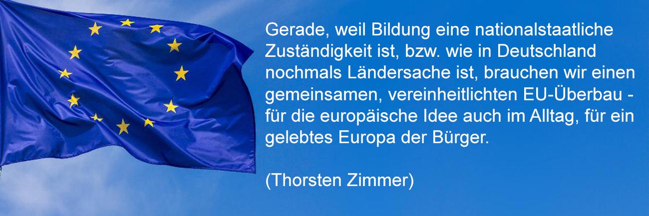 Vereinheitlichung der Europa-Bildung - Initiative #mehreuropa