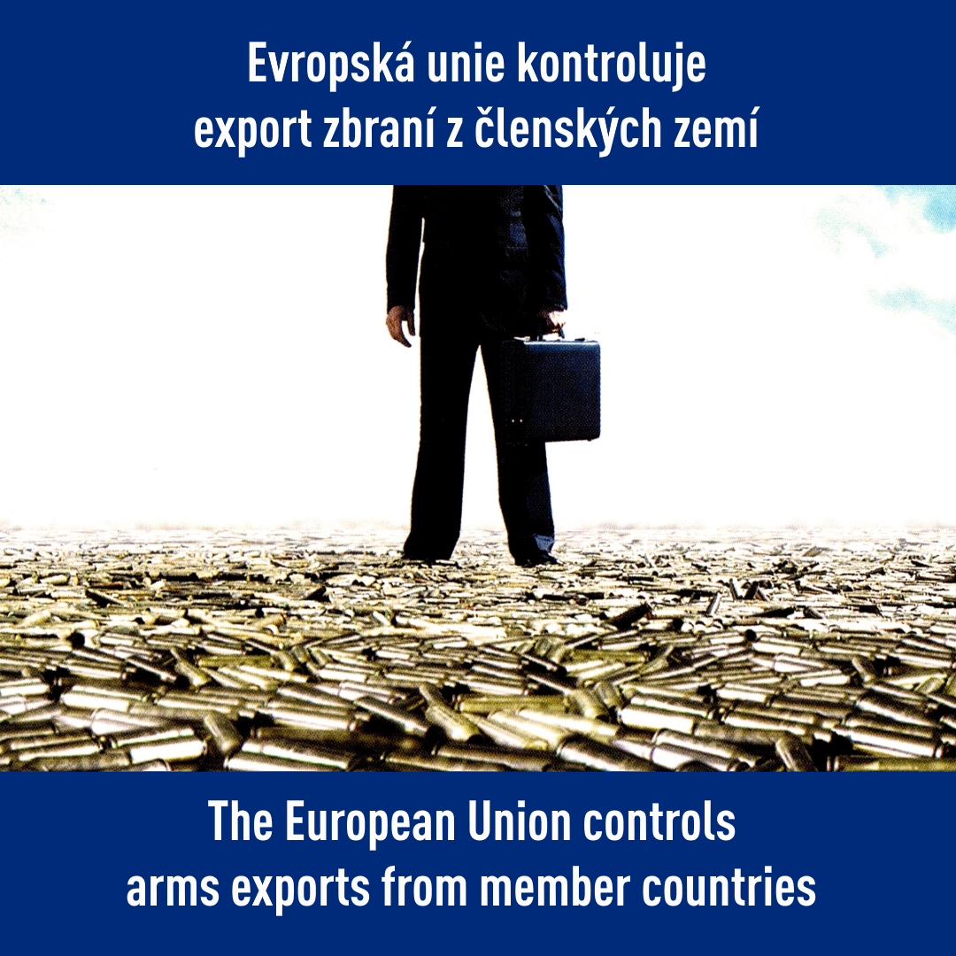 The European Union controls arms exports from member countries